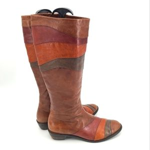 Arnold Churgin Handmade Four Earthy Tones Butter Soft Leather Boots